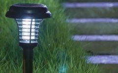 Groene Green Arrow Anti-Muggenlamp Tuinlamp Prikspot op Zonne-energie - Zwart - Geïntegreerde Accu - Insectenverdelger