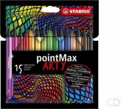 Viltstift STABILO pointmax 488/15-1-20 etui à 15 kleuren