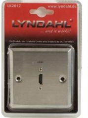 Lyndahl HDMI Wandeinbaudose (Unterputzdose), Edelstahl