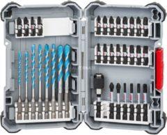 """Bosch Impact Control-Schrauberbit-Set m. Mehrzweckbohrern, 1/4"""", 35-teilig, Bohrer- & Bit-Satz"""