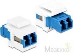 Blauwe DeLOCK 86357 LC Duplex LC Duplex Blauw, Wit kabeladapter/verloopstukje