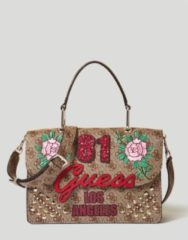 Marrone Guess Borsa In Love Logo 4G