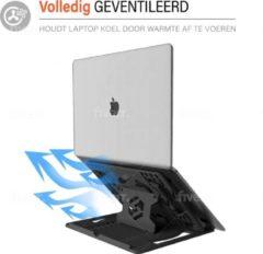 Happygoodies Ergonomische Laptop Standaard – Laptopstandaard - Opvouwbaar – Verstelbaar – Inclusief Telefoonhouder - Zwart