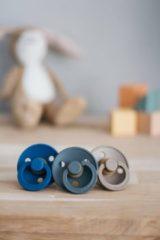 Blauwe BIBS Fopspeen - Maat 2 (6-18 maanden) - 3 stuks - Iron, Midnight Blue en Dark Oak