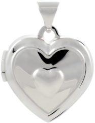 Best Basics Classics&More medaillon - zilver - 16 x 14 mm - hart - bewerkt - gerodineerd