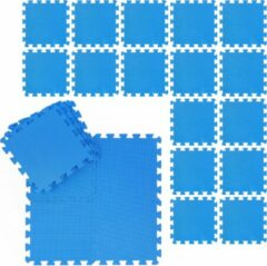 Blauwe Relaxdays fitness matten set - schuimstof - beschermmat - sportmat - puzzelmat - vloermat
