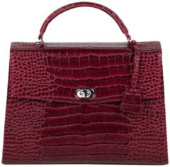 Bordeauxrode SOCHA Dames Laptoptas 13,3 inch Audrey Croco Burgundy