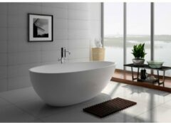 Ideavit Solidsurf Vrijstaand bad 180x90cm ovaal Solid surface wit 290201
