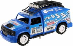 Toi Toys BV Desert Racer Metal Friction met licht & geluid (Blauw) 25 cm Toi Toys - Modelauto - Schaalmodel - Model auto