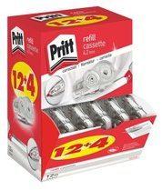 Pack van 12 + 4 navullingen voor hervulbare correctors Flex Roller Pritt breedte 4,2 mm - lengte 12 m