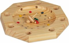 Relaxdays tiroler roulette - hout - roulette - bordspel - gezelschapsspel - bauernroulette