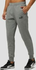 Grijze PUMA ESS Logo Pants FL cl Broek Heren - Medium Gray Heather - Maat M