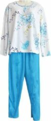 Fine Woman Dames pyjama Fine women katoen polyester gebloemd en effen turqoise XXL
