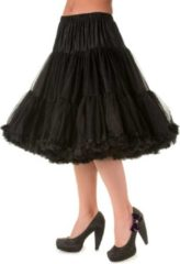 Dancing Days Petticoat extra lang zwart - Vintage Retro Rockabilly - 26 inch lengte - XS/S - Banned