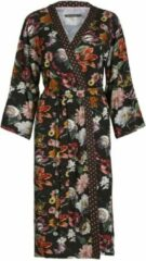 Donkerbruine Essenza Sarai Filou kimono met bloemenprint