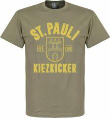 Bruine Retake St Pauli Established T-Shirt - Khaki - XS