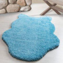 Flycarpets Fluffy Decoratie Vacht Turquoise Hoogpolig Vloerkleed 133 X 190 CM