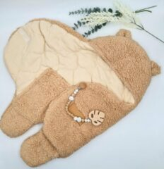 Mon Avenir - Baby Teddy Inbakerslaapzak extra gevoerd - Bruin - Dik - 0-3 maanden