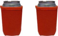 Koozie.eu 4 Oranje bier - frisdrank blik koelhoud hoesjes - 4 stuks
