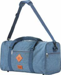 TravelZ Hipster Reistas | 36 liter compacte weekendtas | 53 x 28 x 24cm | Jeans Blauw