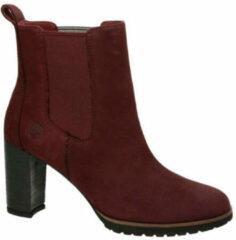 Bordeauxrode Timberland suède chelsea boots Leslie Anne bordeaux