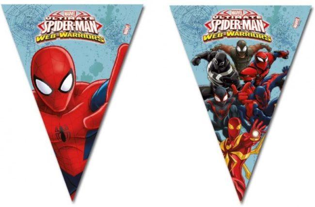 Afbeelding van Spider-Man Spider Man vlaggenlijn-blauw - Maat One-size