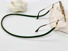 A-Cords Fluwelen zonnebrillenkoord donkergroen | Mannen brillenkoord | zonnebrillenkoordje | Velvet | Unisex