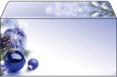 Sigel DU036 Kerstenvelop Blue Harmony DIN lang 90 g/m² Meerdere kleuren 50 stuk(s)