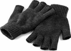 Beechfield 2-Pack Unisex Winterhandschoenen zonder vingers ( Charcoal)