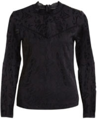 Zwarte Vila Vistasia L/s Lace Top-noos 14041864 Black