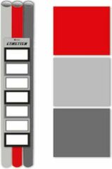 Verhaak 3 pak kaftpapier + labels Grijs-Rood 200x70cm