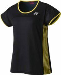 Yonex tennisshirt Tourn dames polyester zwart/geel maat L