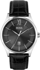 Hugo Boss BOSS HB1513794 DISTINCTION Polshorloge Leer Zwart Heren