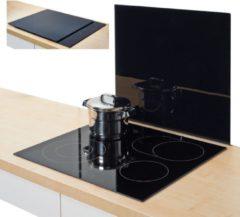 Zeller Present XL-Herdblende-/Abdeckplatte, Glas, schwarz, 56 x 50 cm