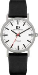 Zilveren Danish Design watches titanium herenhorloge Rhine White Black Medium IQ14Q199