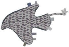 Grijze Snoozebaby Comfort Toy Bird Blanket knuffeldoekje