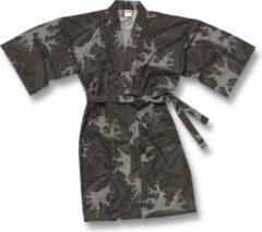 Grijze Merkloos Rechte Lijn, 1/2 mouw, lengte kort, tot boven de knie Dames Nachtmode kimono One Size