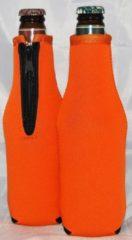 Koozie.eu 2 x Bierfles koelhoud hoesje - flessen koelhouder - bierfles - Oranje