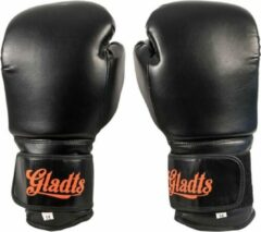 Oranje Gladts bokshandschoenen classic zwart - 12 oz - M