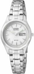 Zilveren Citizen Eco-Drive - Horloge - Staal - 26 mm - Zilverkleurig / Wit - Solar uurwerk