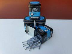 Grijze Expandet spijkerplug nylon 5 x 50 mm 20 stuks