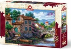 Art Puzzle Canal With Flowers Puzzel 500 Stukjes