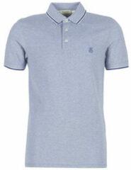 Blauwe Polo Shirt Korte Mouw Selected SLHTWIST