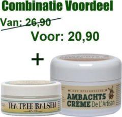 VOORDEELPACK, 200ml Ambachtscreme + Tea tree balsem 75ml