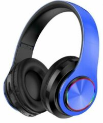 Pro Care excellent quality Pro-Care Excellent Quality Wireless Bluetooth over-ear Headset met LED verlichting - Microfoon - Active Noise Reduction - FM radio en SD card mogelijkheid. Kleur Blauw.