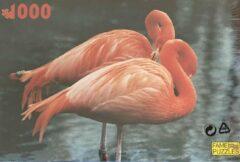 Blauwe Fame puzzles Dieren Puzzel 1000 Stukjes - Flamingo - Vogels