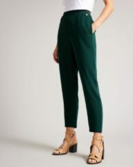 Donkergroene Ted Baker Aliadd high waist tapered fit cropped trackpants
