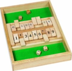 Goki Dobbelspel: SHUT the BOX 34x23,5 cm, in hout, in doosje, 6+