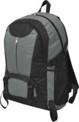 VidaXL Hiking rugzak - Polyester met coating - Zwart en grijs - 32 x 22 x 53 cm - 40 L