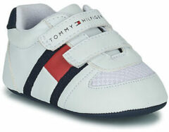 Witte Tommy Hilfiger Velcro baby sneaker 30191 White/Blue